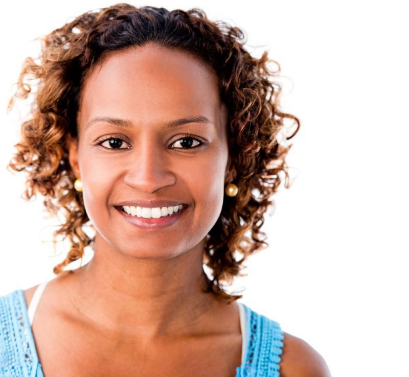 Smiling women with white teeth
